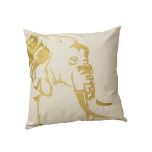 Urban Loft by Westex Africa Elephant Decorative Cushion - 20-in x 20-in - Gold/White