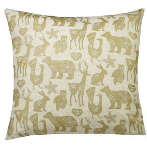 Urban Loft by Westex Animal Farm Decorative Cushion - 20-in x 20-in - Gold