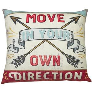 Urban Loft by Westex Wa Move Direction Decorative Cushion - 20-in x 20-in - Mutli