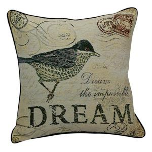 Urban Loft by Westex Dream Bird Decorative Cushion - 20-in x 20-in - Multicoloured