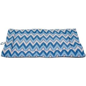 Urban Loft by Westex Chevron Dog Crate Mat - 27-in x 17-in x 1-in - Blue