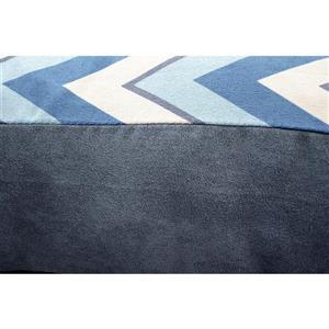Urban Loft by Westex Chevron Slab Dog Bed - 35-in x 24-in x 4-in - Blue