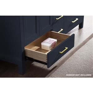ARIEL Double Oval Sink Vanity - 6 Drawers - 61 in. - Blue