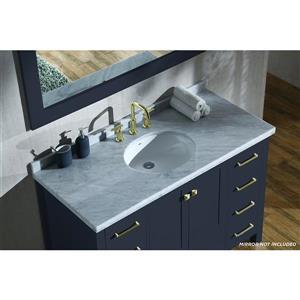 ARIEL Single Oval Sink Vanity - 9 Drawers - 49 in. - Blue