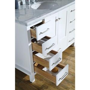 ARIEL Single Oval Sink Vanity - 9 Drawers - 49 in. - White