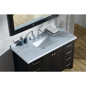 ARIEL Single Rectangle Sink Vanity - 9 Drawers - 49 in. - Espresso