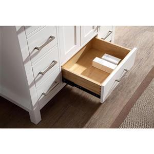 ARIEL Single Oval Sink Vanity - 9 Drawers - 43 in. - White