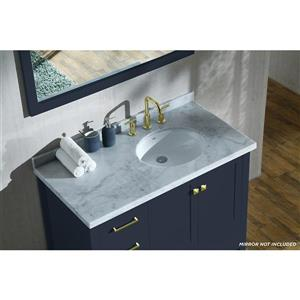 ARIEL Right Offset Single Oval Sink Vanity - 43 in. - Blue
