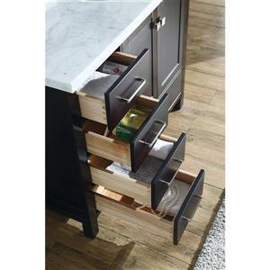 ARIEL Right Offset Single Sink Vanity - 43 in. - Espresso