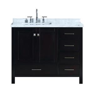 ARIEL Left Offset Single Rectangle Sink Vanity - 43 in ...