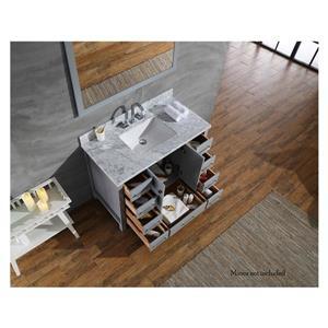 ARIEL Single Rectangle Sink Vanity - 9 Drawers - 43 in. - Grey