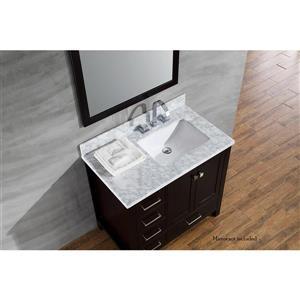 ARIEL Right Offset Single Sink Vanity - 37 in. - Espresso