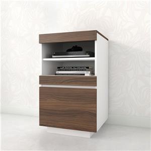 Nexera Cali Entertainment Set/TV Stand - Walnut and White - 2 Piece