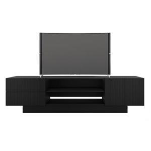 Nexera Galleri Entertainment/ TV Stand Set - Black - 2-Piece