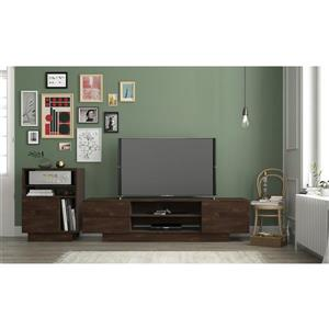 Nexera Morello Entertainment Set/ TV Stand - Truffle - 2 Piece