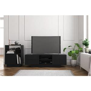 Nexera Galleri Entertainment Set/TV Stand - Black - 2-Piece