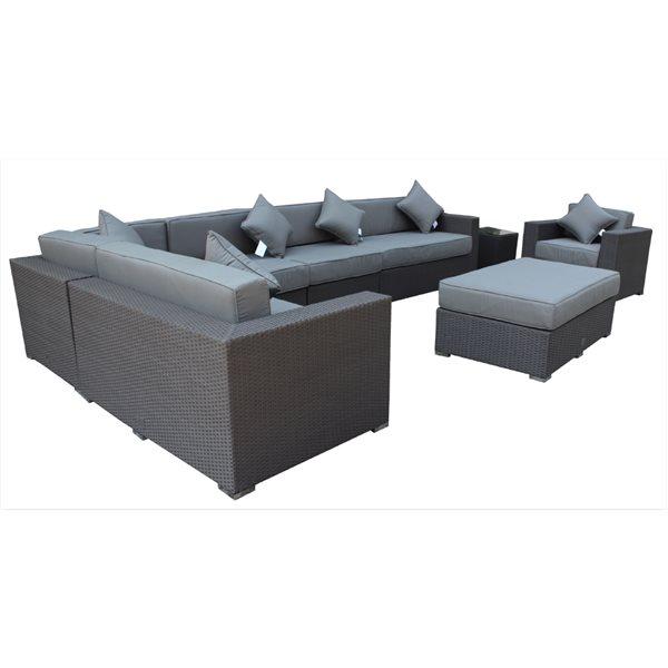 Wd Patio Caesar Outdoor Set, Grey Wicker Patio Furniture Canada