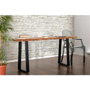 """Collection Bourbon Street Pietro Acacia Wood and Metal Console Table - 51"""""""