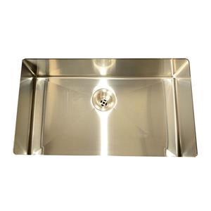 Buckler Global Undermount Single Square Kitchen Sink - Stainless Steel
