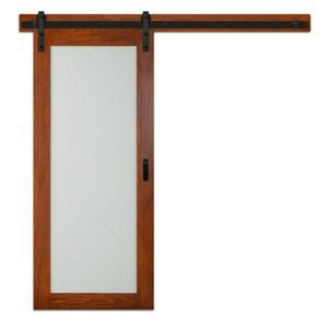 ReliaBilt 1 Lite Frosted Glass Barn Door with Hardware ...