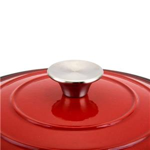 Hamilton Beach Dutch Oven Pot, Cast Iron, Red