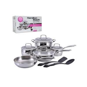 Hamilton Beach Stainless Steel Cookware Set - 11-Piece
