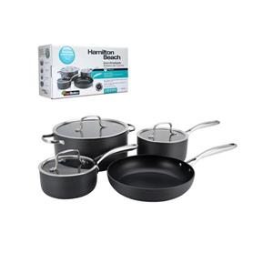 Hamilton Beach hard Adonized Cookware Set - 7 Piece