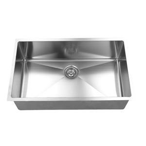 Elegant Stainless Single Undermount Sink - 34-in - Stainless Steel