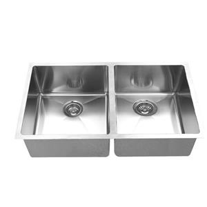 Elegant Stainless Double Undermount Sink - 36-in - Stainless Steel