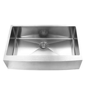 Elegant Stainless Farmhouse/Apron Kitchen Sink - 36-in - Stainless Steel