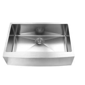 Elegant Stainless Farmhouse/Apron Kitchen Sink - 33-in - Stainless Steel