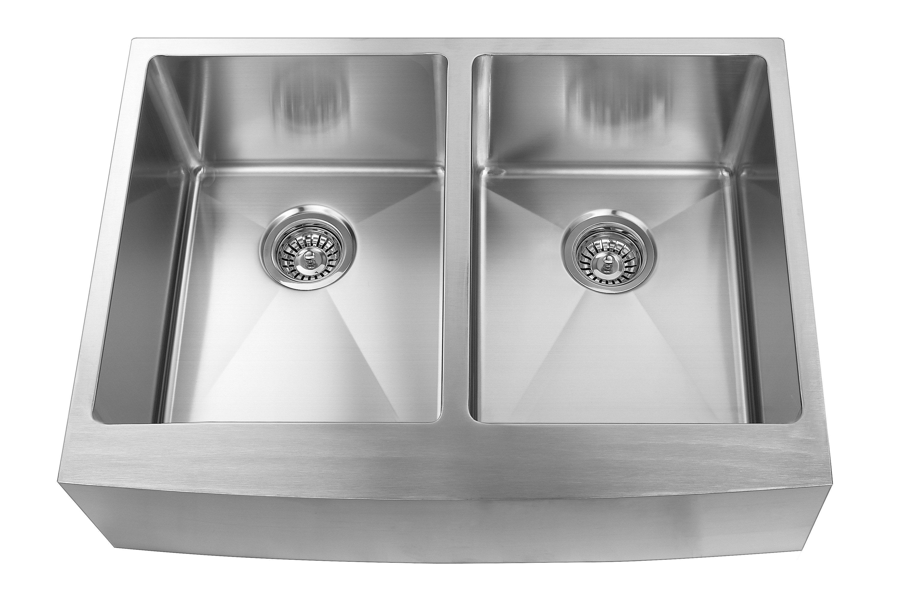 Elegant Stainless Farmhouse Apron Double Kitchen Sink 30 In Stainless Steel Lowe S Canada