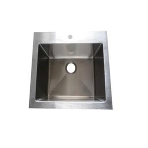 Elegant Stainless Laundry Sink - 24-in - Stainless Steel and Brushed Nickel