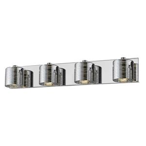 Z-Lite Sempter Bathroom LED Vanity Light - 4-Light - Chrome