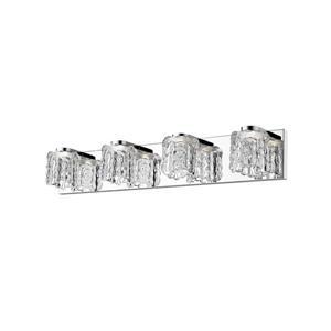 Z-Lite Tempest Bathroom LED Vanity Light - 4-Light - Chrome