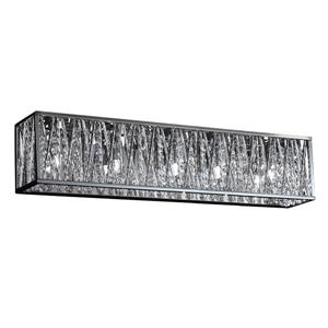 Z-Lite Terra Bathroom LED Vanity Light - 5-Light - Chrome