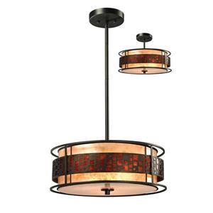 Z-Lite Oak Park 3-Light Pendant - 18-in - Java Bronze