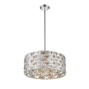 Z-Lite Aludra 5-Light Pendant - 18.25-in  - Chrome