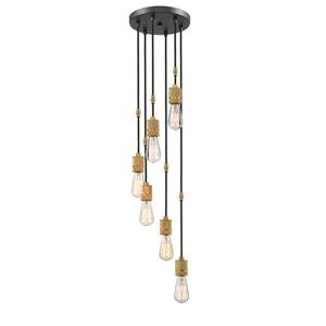 Z-Lite Troubadour 6-Light Pendant - 10-in  - Bronze