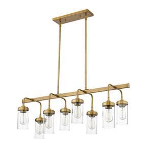 Z-Lite Calliope 8-Light Pendant - 40-in  - Foundry Brass
