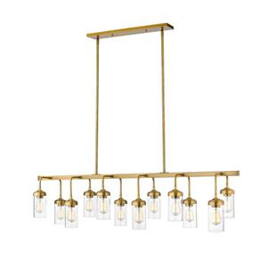 Z-Lite Calliope 12-Light Pendant - 60-in  - Foundry Brass