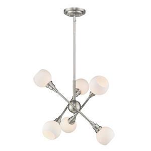 Z-Lite Tian 6-Light Pendant - 26.25-in  - Brushed Nickel