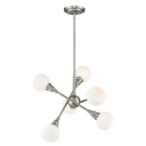 Z-Lite Tian 6-Light Pendant - 26.25-in  - Brushed Nickel