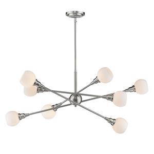 Z-Lite Tian 8-Light Pendant - 45.38-in  - Brushed Nickel
