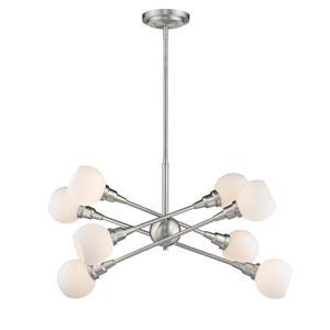 Z-Lite Tian 8-Light Pendant - 32.38-in  - LED Light - Brushed Nickel