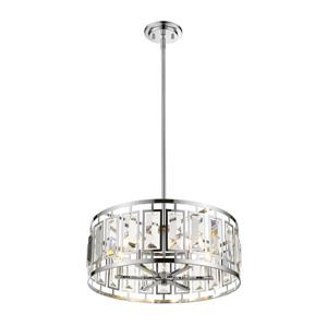 Z-Lite Mersesse 6-Light Pendant - 23-in - Chrome