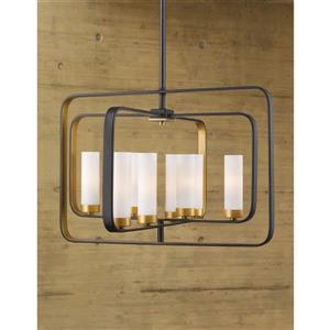 Z-Lite Aideen 8-Light Pendant - 24.24-in  - Bronze Gold