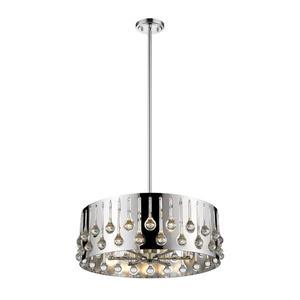 Z-Lite Oberon 6-Light Pendant - 24.5-in - Chrome/Crystal