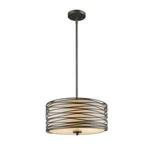 Z-Lite Zinnia 3-Light Pendant - 14-in - Bronze