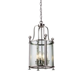 Z-Lite Wyndham 4-Light Pendant - 11.5-in - Brushed Nickel